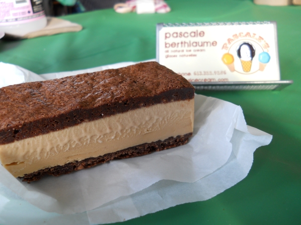 Milk chocolate Beau's beer ice cream sandwich