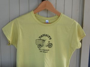 Pascale's All Natural Ice Cream t-shirts for special order in Ottawa, Canada