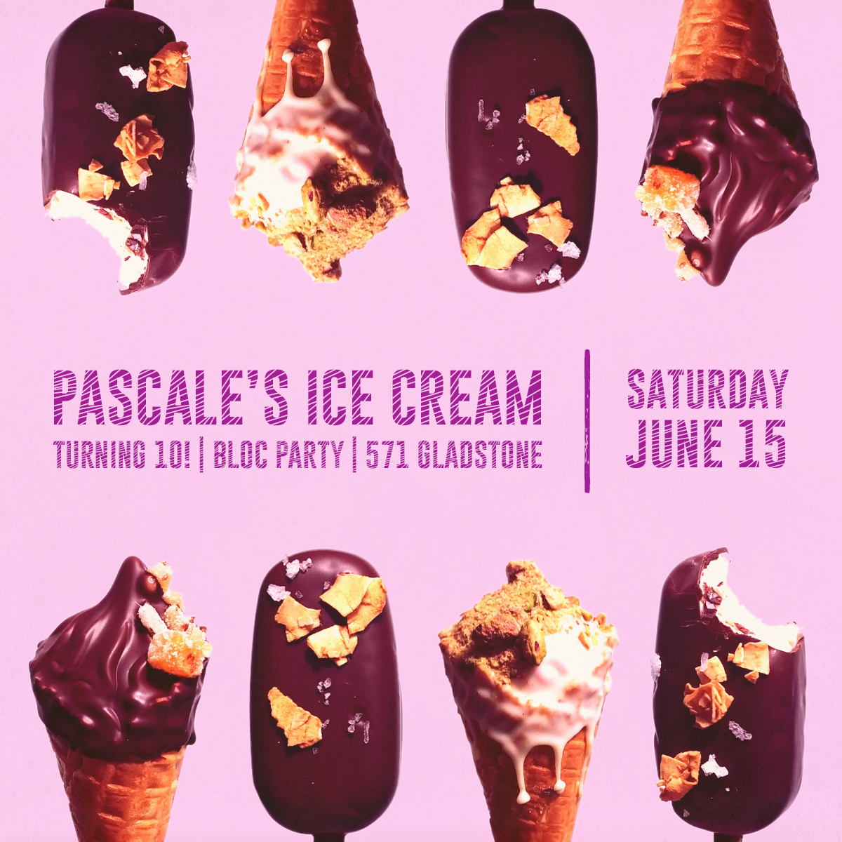 Pascale's party, Saturday June 15th