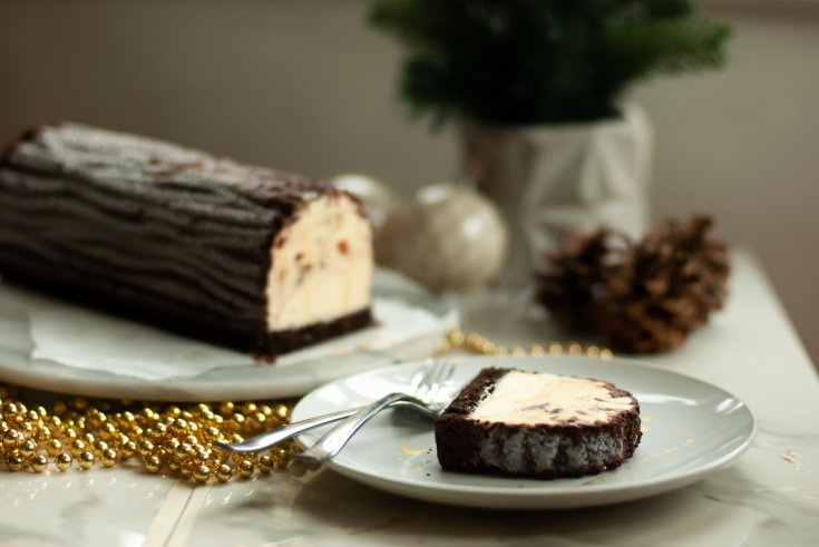 Ice cream yule logs for special order
